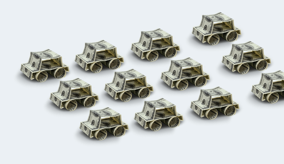 Origami Money Cars